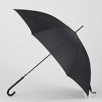 American Apparel - Black Auto Open Stick Umbrella