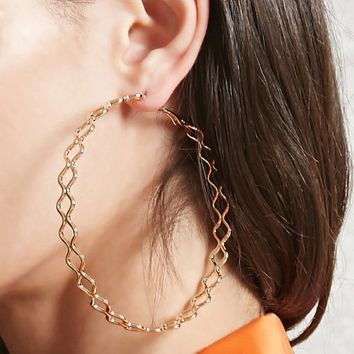 Cutout Hoop Earrings