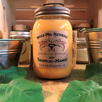 Tropical-Mango Natural Hand Poured Soy Candles