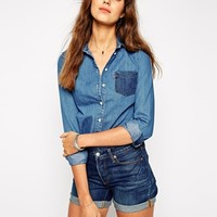 Levi's Denim Shirt With Contrast Pocket