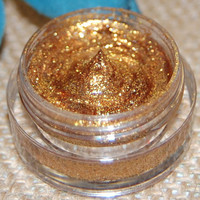 All Natural Vegan Glitter Makeup Gel in Gold by AddictiveCosmetics