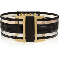 Balmain - Patent-leather and PVC waist belt