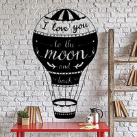 Wall Decal Love Quotes I Love You To The Moon And Back Home Interior Unique Gift z4019