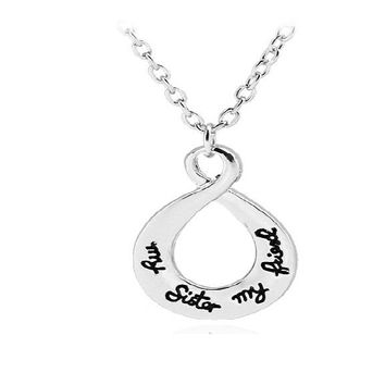 Magic Ikery Simple Letters Best Friends Forever Pendant Necklace
