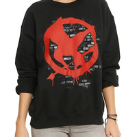 The Hunger Games: Mockingjay Graffiti Girls Pullover Top