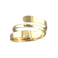 Double Bypass Ring - Gold Filled