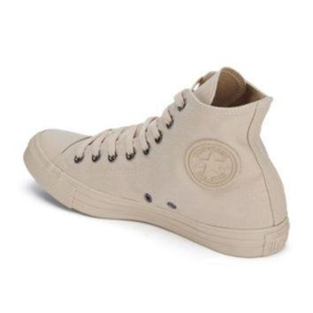 CREYUG7 Converse Men's Chuck Taylor All Star Monochrome Hi-Top Trainers - Tan Sand
