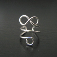 Infinity Ear Cuff, Sterling silver Ear Cuff, Mini Infinity Ear Cuff, No Piercing, Gifts under 10