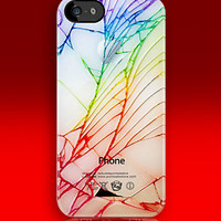 Broken, Rupture, Damage Cracked Out White Apple iPhone 5, iphone 4 4s, iPhone 3Gs, iPod Touch 4g case by pointsale store.com