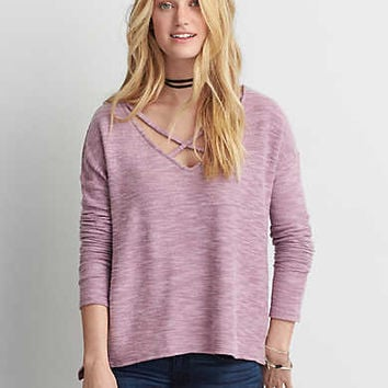 AEO Soft & Sexy Cross-Strap Fleece, Lavender
