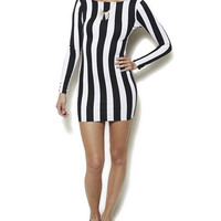 Vertical Stripe Bodycon Dress | Shop Dresses at Wet Seal