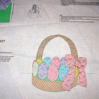 Easter Project Cut and Sew Fabric Panel Cranston Fabric Egg Basket Easy DIY Project