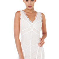 Just A Memory Off White Lace Dress