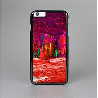 The Grungy Red Abstract Paint Skin-Sert for the Apple iPhone 6 Skin-Sert Case