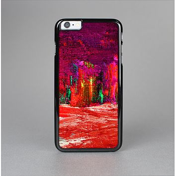 The Grungy Red Abstract Paint Skin-Sert for the Apple iPhone 6 Plus Skin-Sert Case
