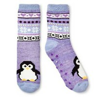 Women's Legale Duo Layer Cozy Sock - Penguin - Purple One Size Fits Most