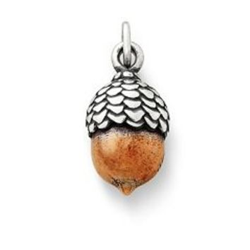 Silver & Copper Acorn Charm | James Avery