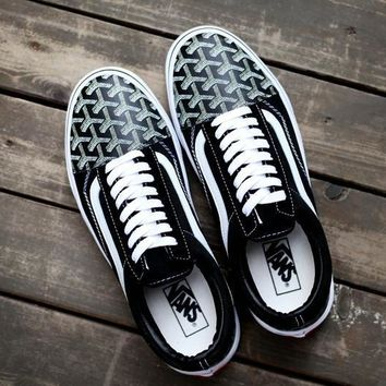 Vans Old Skool X Goyard Customs Low Top Men Flats Shoes Canvas Sneakers Women Sport Shoes