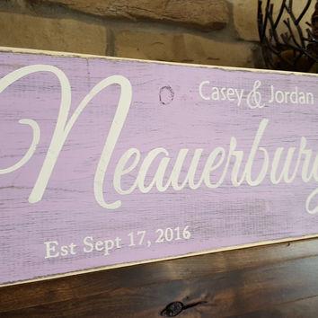 Rustic Personalized Wood Monogram Sign-Family neauerburg Style