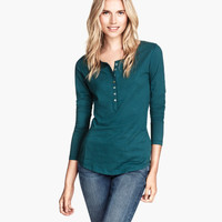 H&M Jersey Top with Buttons $9.95