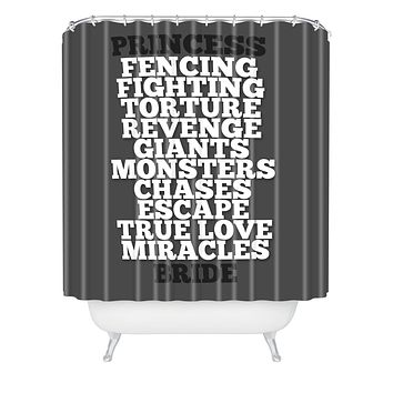 Leah Flores Princess Bride Shower Curtain