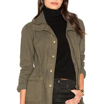 Velvet by Graham & Spencer Arlene Parka Jacket in Deep Green