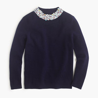 J.Crew Womens Embellished Mockneck Sweater