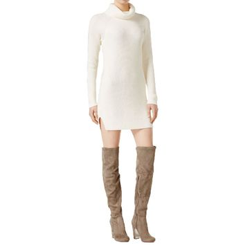 Kensie Womens Knit Turtleneck Sweaterdress