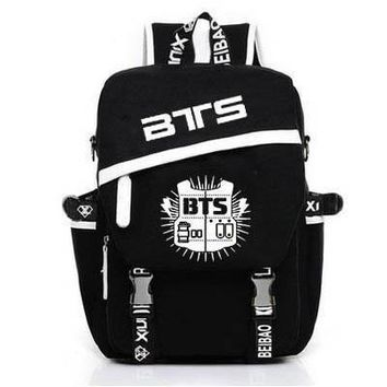 New Korean Backpacks BTS Mochila Printing Backpack kpop stars school bag boys girls book laptop satchel ,V,Rap Monster,JIN,SUGA