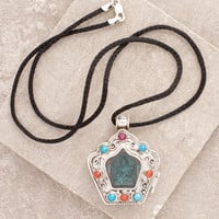 Green Tara Silver and Jade Locket