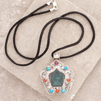 Green Tara Silver & Jade Locket