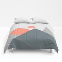 Minimal Landscape Comforters by naturalcolors