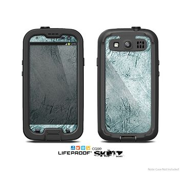 The Grungy Teal Wavy Abstract Surface Skin For The Samsung Galaxy S3 LifeProof Case