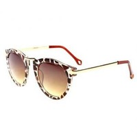 Leopard Print Frame Cat Eye Sunglasses LVB561