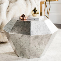 Antique Silver Grace Diamond Accent Table