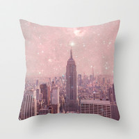 Stardust Covering New York Throw Pillow by Bianca Green