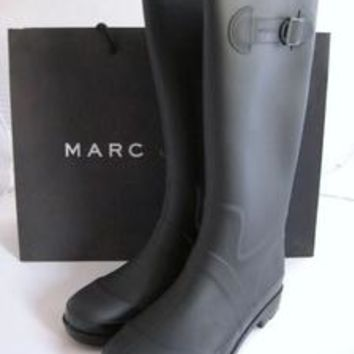 MARC JACOBS Matte Black Rubber Rainboots Rain Boots 9/39 Wellies Shoes