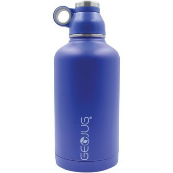 Brentwood Appliances G-1064BL 64-Ounce Stainless Steel Vacuum-Insulated Water Bottle (Blue)
