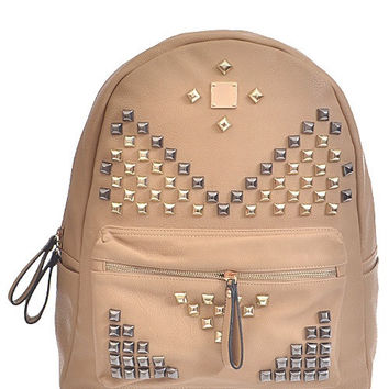 Studded Mixed Backpack