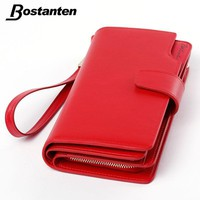 Women's Wallets Real genuine leather Cell Phone Card Holder Coin