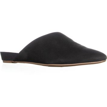 Franco Sarto Tatiana Pointed Toe Wedge Heel Mules , Black, 7 US / 37 EU