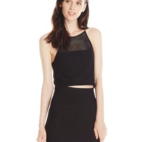 BCBGeneration Women's Mesh Crop Top