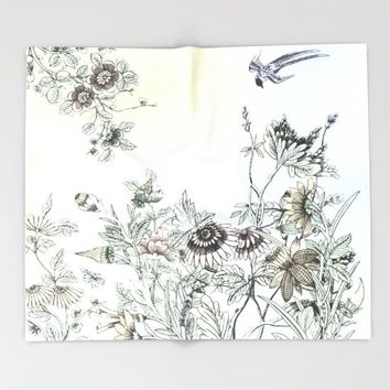 The dance of Spring Throw Blanket by anipani