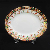 Vintage/Antique Imari Pattern J.M. & Co Devon Oval Plates, J.M. and Co Bone China Oval Plate