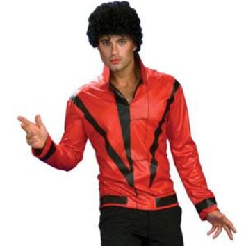 Michael Jackson Men's  Thriller Costume Red