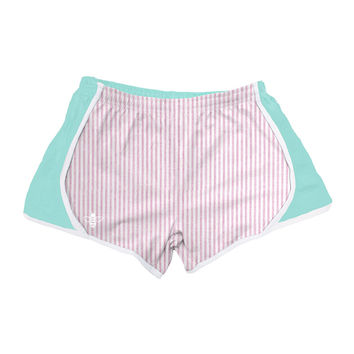 Mint Jersey with Pink Seersucker Shorts by Lily Grace - FINAL SALE