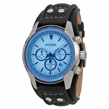 Fossil Mens CH2564 Chronograph Black Leather Strap Watch