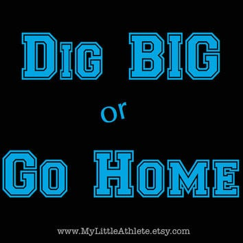 Volleyball Shirt - Pin 2 Win - Dig Big or Go Home - Libero tshirt - black practice shirt