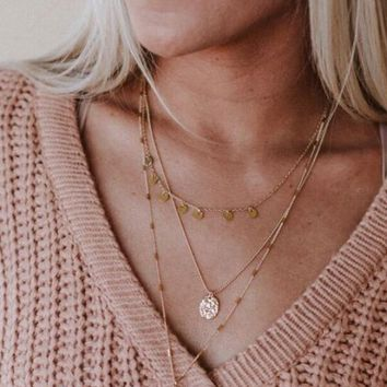 Drops Of Jupiter Layered Necklace - Gold