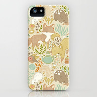 Animal's Tea Party iPhone Case by Teagan White | Society6